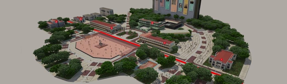 Projeto da restauração da praça cívica em Goiânia Goiás