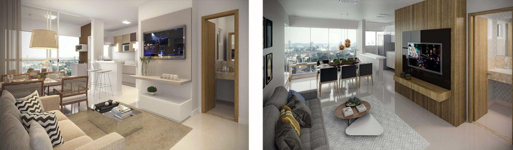 apartamento dois quartos brava bueno com e sem varanda sala estendida goiania goias cmo construtora