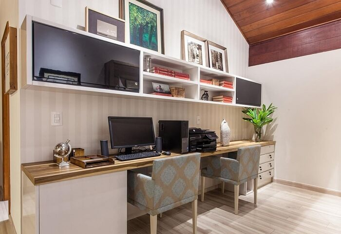Sala de jantar e home-offices