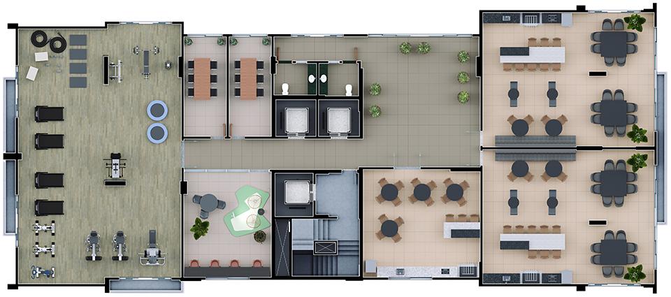 Planta lazer 29º pavimento