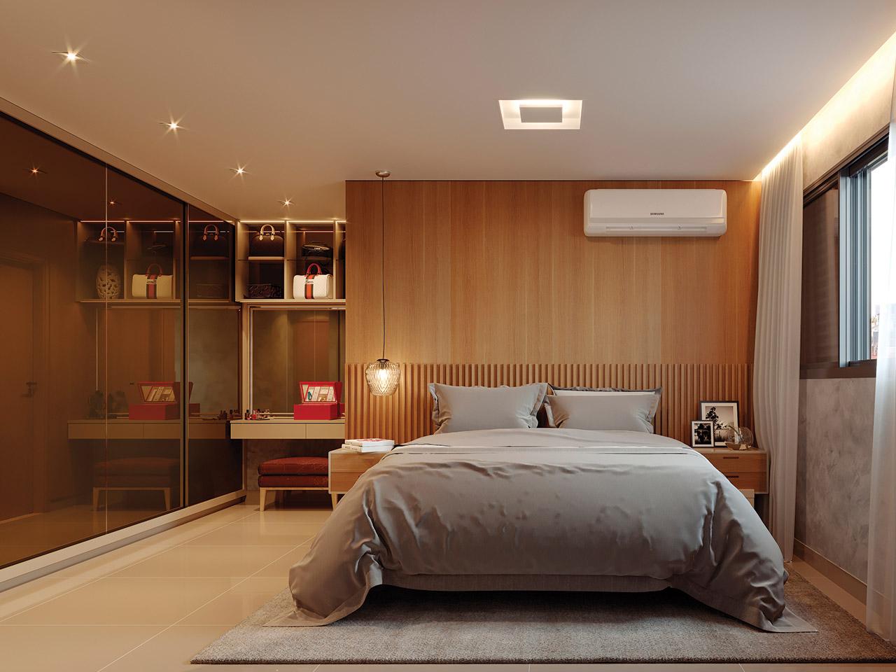 Quarto do apartamento de 3Q - 77,62m²